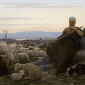 """И.Л.Аскназий. """"Моисей в пустыне"""". 1885"""