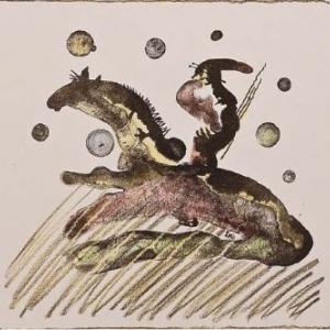 Г. Паштов. Золотой конь. 2006 г. Цв. автолитография