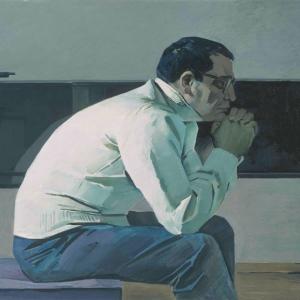 Т.Т. Салахов. Портрет композитора Кара Караева. Х.м. 121х203. 1960