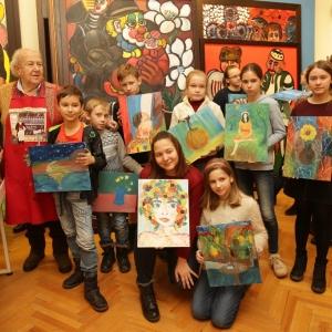 Мастер-класс З.К. Церетели для детей из Саратова и Испании.