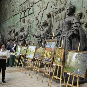 First  Diplomat´s painting exhibition / Первая выставка живописных произведений дипломатов в МВК РАХ.