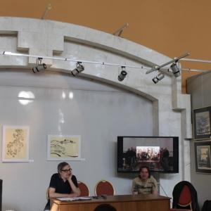 Круглый стол в рамках выставки произведений академиков и художников-стажёров Творческих мастерских РАХ «Пауза созерцания» в Москве.
