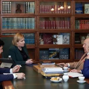 Встреча Президента РАХ З.К.Церетели с Министром культуры РФ О.Б.Любимовой