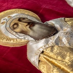 Покров на раку прп. Сергия и Германа. Сер. XIX  в. Валаамский монастырь