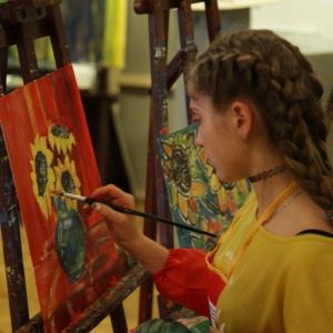 Мастер-класс З.К.Церетели для победителей Международной выставки-конкурса художественных произведений детей и юношества «Белая ворона».