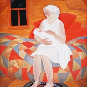 Выставка произведений Джанны Тутунджан в Вологде. Гори ясно. 1976. Холст, масло темпера.