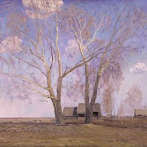 В.М.Сидоров. Весна. Высокое небо, 1960