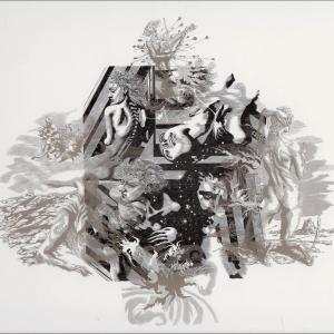 25.11.2019. М.М.Верхоланцев удостоен Гран-при Триеннале печатной графики в Уфе 2019. М.М.Верхоланцев. Диптих. Реминисценции. Восвоминания о маньеризме. торцовая ксилография, печать с пяти досок. 2019(2)