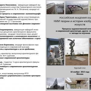 Круглый стол «Процессы художественной интеграции в современной архитектуре, других видах искусства и методы их изучения»
