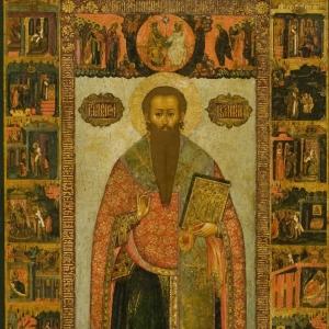Василий Великий с житием в 42 клеймах. 1674 г. Семен Спиридонов Холмогорец
