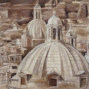 «Стремление вверх».  Выставка произведений Елены Старостиной в Российской академии художеств