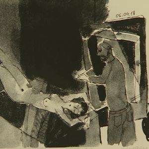 «Художник и модель». Выставка произведений Анатолия Любавина в Калуге.