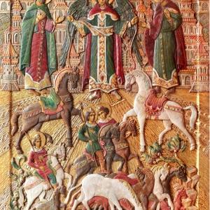 «Живая традиция». Выставка резной деревянной иконы Инессы и Рашида Азбухановых в Дмитрове.