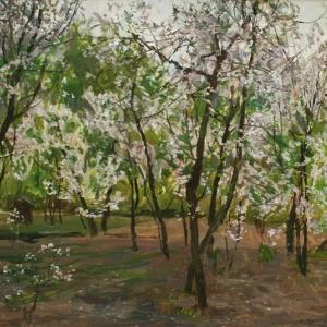 А.М.Грицай (1914-1998). Вишня цветет. 1979