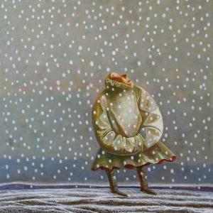02.09.2012 - 26.09.2021. Выставка произведений М.Г.Старостина и Д.А.Бойтунова в залах Регионального отделения УСДВ РАХ в Красноярске. М. Старостин. Снег-заячий хвост. Холст, масло.