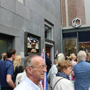 Открытие мемориальной доски по случаю 300-летнего юбилея посещения Маастрихта (Нидерланды), работы А.М.Таратынова.