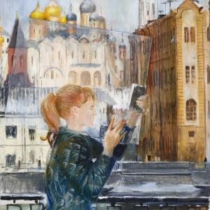 Выставка «Юрий Пименов» в Новой Третьяковке. Кусок стекла. 1966.