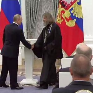 Вручение государственной награды Академику РАХ Ф. Ф. Конюхову