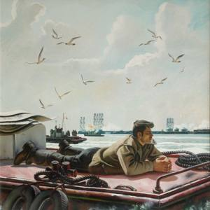 Т.Т. Салахов. Утро на Каспии. Х.м. 226х224. 1986