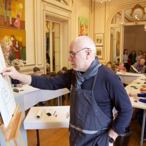 Мастер-класс ректора МГАХИ имени В.И.Сурикова А. Любавина в Париже.