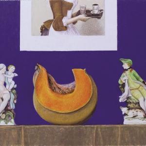 А.М. Муравьев.  Деликатный разговор. Из серии «Тихая жизнь». бум., м., пастель. 43х62 см.  2015