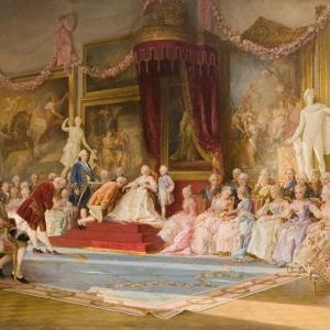 В.Якоби. Инаугурация Академии художеств 7 июля 1765 года. 1889.